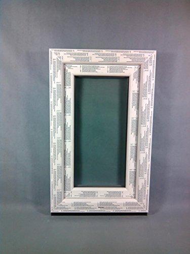 Kunststofffenster Seebach8000 50x80 cm (b x h), weiß, DIN links