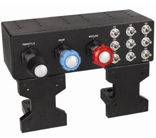 SAITEK Instrument Panel Pro Flight Throttle / Prop / Mixture Axis für Flugsimulatoren Für PC + 2 JAHRE GARANTIE