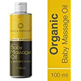 Life & Pursuits Organic Ayurvedic Baby Massage Oil with Sesame Oil, Coconut Oil, Ashwgandha & Turmeric (100ml)