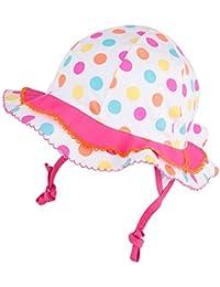 TuTu by Galeja Mädchen Sommerhut Flapper UV Schutz 30+ 100% Cotton Sonnenhut Gr. 50-52 + 46-48 Mädchenmütze