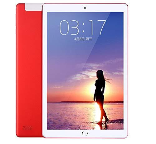 Zehn-Kern-Spiel Huhn Tablet zu Essen Smart ultradünnen großen Bildschirm iPad4G Anruf Dual-Karte Dual-Standby-10,1 Zoll (Rot) (M5 Smart-tv-box)