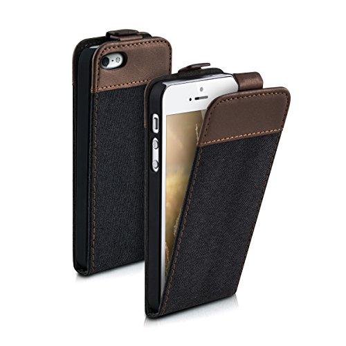 kwmobile Apple iPhone SE / 5 / 5S Hülle - Handyhülle für Apple iPhone SE / 5 / 5S - Handy Case Flip Schutzhülle
