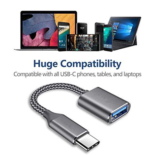 Dkings für Samsung A5 A8 S8 LG G6 USB Typ C 3.1 zu USB 3.0 OTG-Kabeladapter-Anschluss für Telefone Tablets Laptops, zum Anschließen von Tastaturen, Mäusen, externem Hard Laufwerke, Gamecontroller