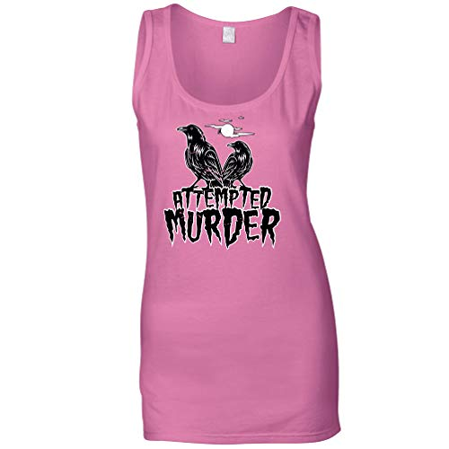 Tim And Ted Halloween Sommerweste Mordversuch Crow Pun Pink Large
