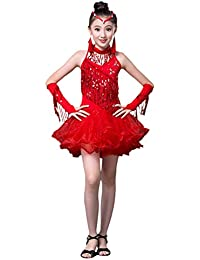 besbomig Moda Lustrino Nappa Vestito da Ballo Latino Salsa Tango Bambini  Dancewear - Ragazze Ballroom Festa dda5b48b7ec