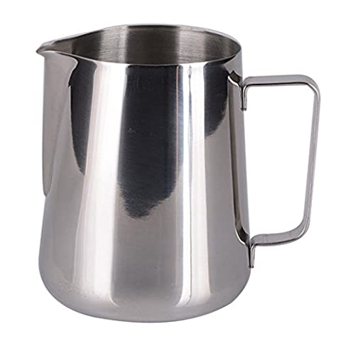Frothing Jug, 12 Oz ,350ml Stainless Steel Milk Cup ,Milk Frothing Pitcher, Coffee Milk Frothing Jug for Espresso Machines Coffee Latte Art Baristas