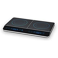 MEDION (MD 15324) Doppel-Induktionskochplatte / 3500 Watt / Zwei Kochplatten / 10 Temperaturstufen / LED Display / schwarz
