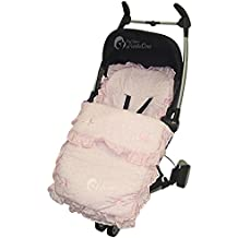 Broderie Anglaise saco/Cosy Toes Bebecar Ip-Op Grand Stylo rosa