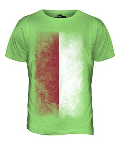 CandyMix Indonesien Verblichen Flagge Herren T Shirt Limettengrün