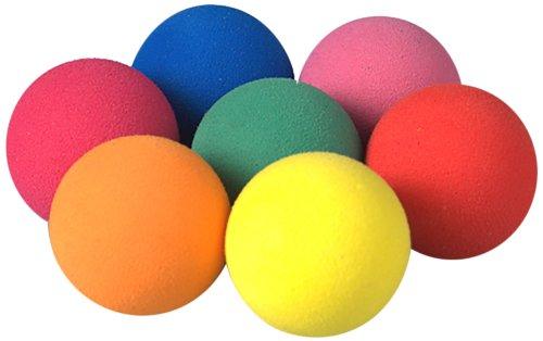 efco Schaumgummibälle, 25 mm, ausgewählte Farben, 7Stück
