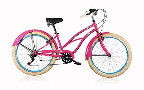 Leader Beachcruiser Lazy 26 Zoll Rose Cruiser Neu Fahrrad Damenrad