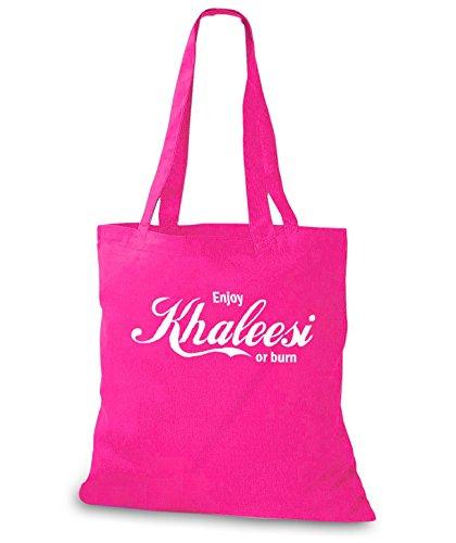 StyloBags Jutebeutel / Tasche Enjoy Khaleesi or burn Pink