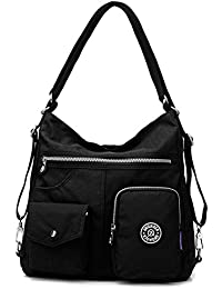 Womens Waterproof Nylon Travel Bag - Outdoor Fashion Waterproof Crossbody Shoulder Bag Backpack Multi-Functional...