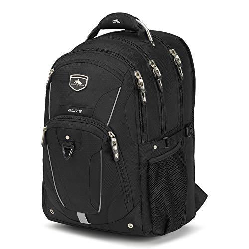 High Sierra Elite TSA Laptop Backpack, Black
