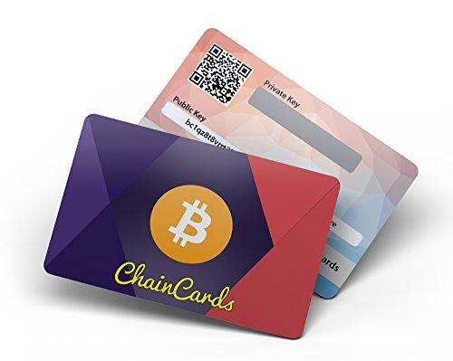 Preisvergleich Produktbild ChainCards Crypto Wallet to go - Bitcoin Wallet - für Bitcoin Geschenkkarten,  zum lagern von Bitcoin,  offline und sicher.