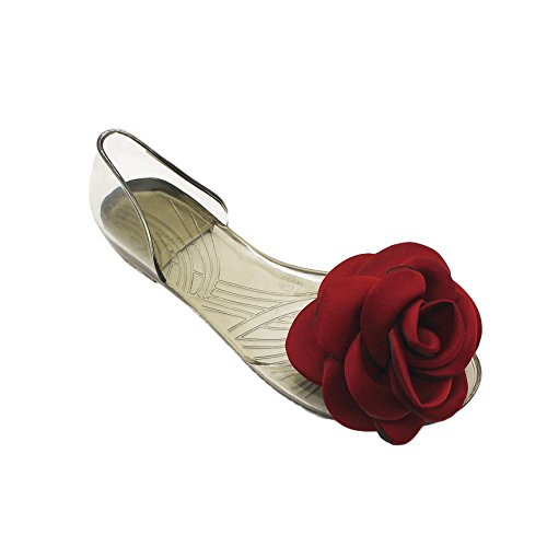 bocca di pesce scarpe estate i sandali sono scarpe trasparente jelly jelly fish raso bocca le scarpe 40