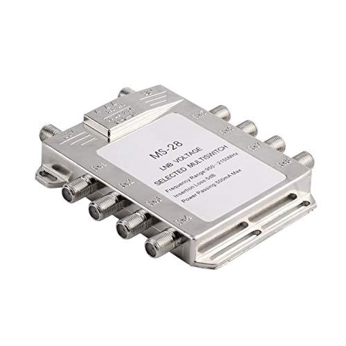 Tragbare 2x8 JS-MS28 Satelliten Signal Multischalter 950-2150 MHz LNB Spannung Ausgewählt Schalter Low Loss LNB Empfänger Multischalter