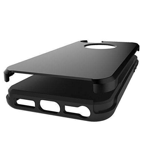 Einfache gebürstete Textur 2 in 1 PC + TPU Kombination Schutzhülle für iPhone 6 Plus & 6s Plus by diebelleu ( Color : Dark blue ) Black