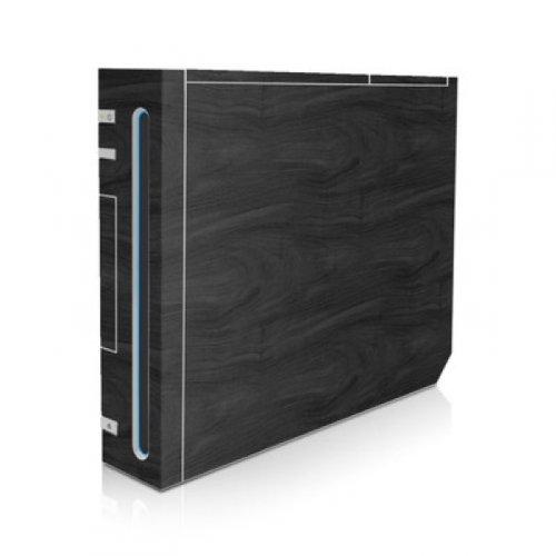 DecalGirl Nintendo Wii Skin Design Aufkleber Schutzfolie Sticker - Black Woodgrain