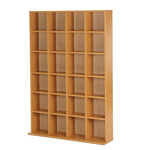 homcom Mobile Libreria Porta CD a Muro 24 Scompartimenti Regolabile ...