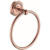 Comparador de precios AZHUCHANGJIANG Rose Gold Copper Plating Bath Towel Ring Inicio Productos Suspensión de Pared Colgante Towel Cocina y Baño Circular Towel Rack Towel Ring Rack - precios baratos