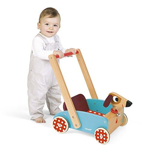 Janod J05995 - Lauflernwagen aus Holz, Crazy Doggy - 2