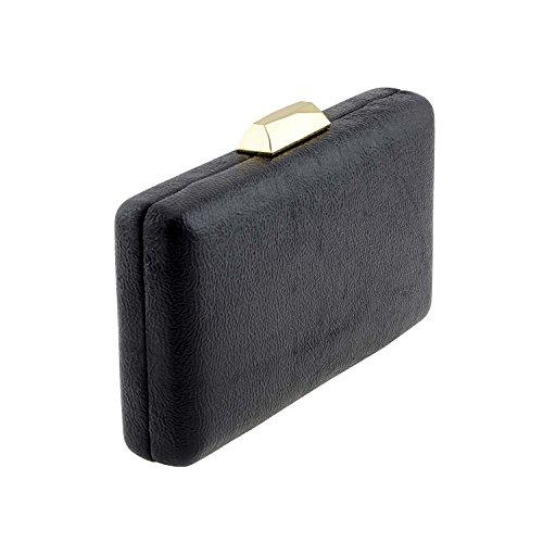 portafoglio ugello metallizzato Nero Gran Venta Barato Encontrar Grandes b7Kv1