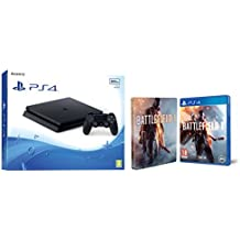 PlayStation 4 Slim (PS4) 500 GB - Consola + Battlefield 1 + Steelbook (Exclusivo en Amazon)