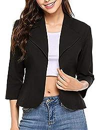 Amazon.es  capas negras - Trajes y blazers   Mujer  Ropa d3633e8113ab