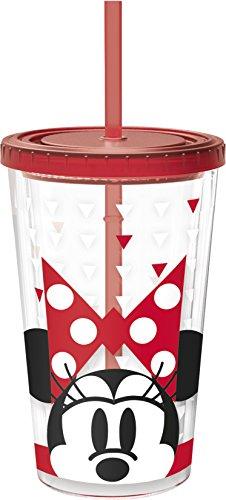 NOVASTYL 8013668 MINNIE FASHION Gobelet Café Glace Plastique/Styrène Acrylonitrile Rouge 10 x 10 x 24 2 cm
