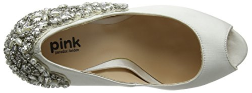 Paradox London Pink Indulgence, Scarpe Col Tacco con Plateau Donna Off-White (Ivory)
