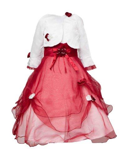 24brands - Mädchen Kommunionkleid Blumenmädchenkleid Festkleid Kleid Hochzeit- 2471,...