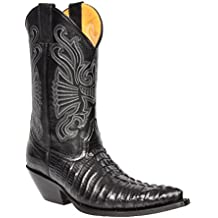 A1 FASHION GOODS Carolina Black Grinders Boots, Santiags Homme 8ed378fb99e7