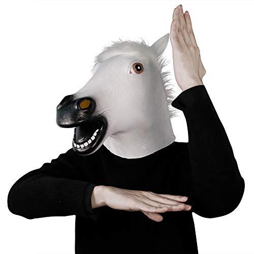 molezu Maschera Decorativa del Costume del Partito del Vestito Operato dalla Maschera di Halloween del Lattice della Testa di Cavallo