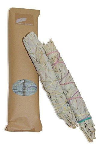 Königs Smudge: Extra langer, feiner weißer Salbei Räucherstab/BuffaloSage, Indiansage (11-12Inch, 26-28cm lang~75-90gr.) von Native-Spirit.eu - Wands, Smudge Stick XL (2) -