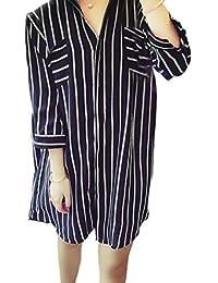 Amazon.it  camicia a righe verticali - Donna  Abbigliamento ea5a0203d8c
