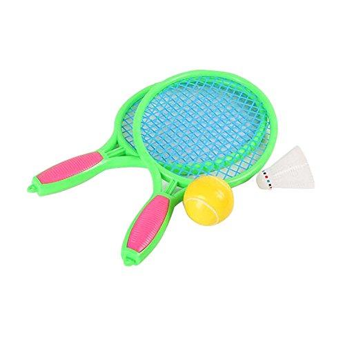 Raquette de tennis Jeux pour enfants Badminton Raquette Fitness Toy-Green