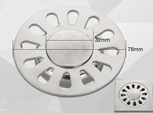 Rohr Percolator (Rostfreier Stahl mit Auslauf, edelstahl, solides Metall, Gully-Netz, strapazierfähig, Belastung, Aixin)
