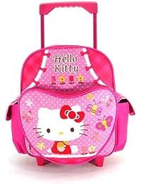 Pequeña Hello Kitty Mochila portatil con ruedas