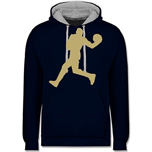 Basketball - Basketball - Kontrast Hoodie Dunkelblau/Grau meliert