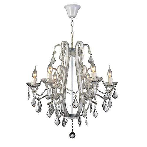 American Crystal Kronleuchter Eisen Kunst Wohnzimmer Lampe Europäische Kerze Kristalle Lampe Kristall N Schwarz Weiß 10 Kopf Kronleuchter -