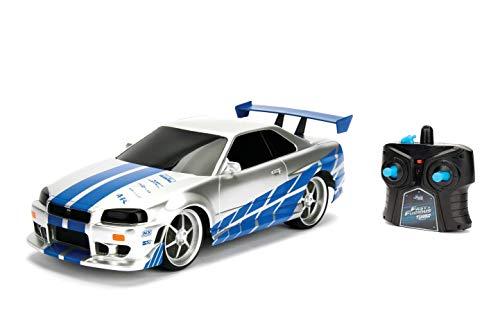 Jada Fast&Furious RC 2002 Nissan Skyline GT-R 1:16 Funkfernbedienung weiß blau (253206007)