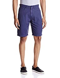 IZOD Mens Cotton Shorts (8907163581426_ZKST0061_34_Navy)