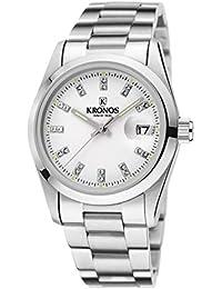 Kronos - Elegance White Zirconia 968.8.32ZR - Reloj de señora de Cuarzo, Brazalete