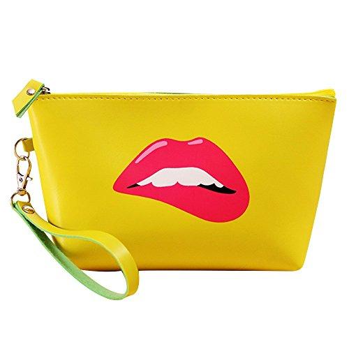 Contever® Portable Multifunción PU Lavado Bolsa Neceser Viaje Bolsa de Aseo Maquillaje Cosmético Bolsa Organizador para Las Mujeres de Señora Girl ,Tamaño: 21.5x7.5x12 cm -Estilo 5