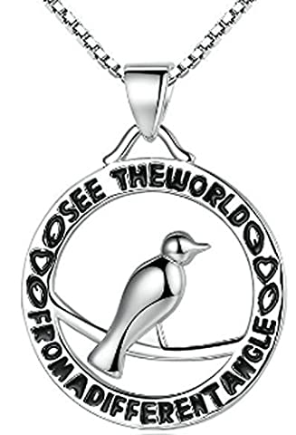 SaySure - 925 Sterling Silver Animal Bird Letter Femme Necklaces