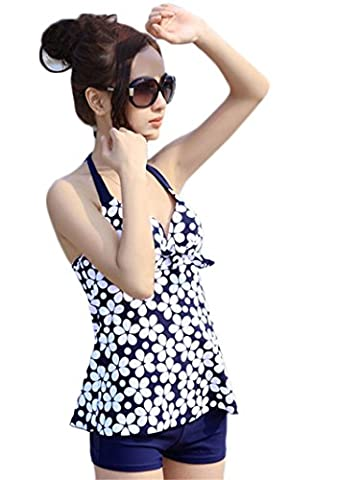 Maillot De Bain, Kolylong® 2016 Summer Swimsuit Women Swimwear Push Up Tankinis Dot Pattern Spring Fashion Ladies Swimwear (S, Bleu marine )