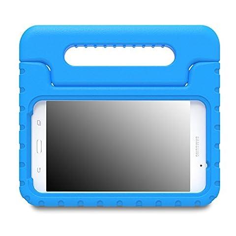 MoKo Etui Samsung Galaxy Tab A 7.0 - Etui Housse EVA Enfants Antichoc Protecteur Support Convertible avec Poignée de transport pour Tablette Samsung Galaxy Tab A 7.0 Pouces SM-T280/SM-T285 Modèle 2016, BLEU