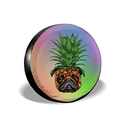 Alicoco Pineapple Pug Copertura Ruota di scorta Coperture per Pneumatici Divertenti Impermeabili novità