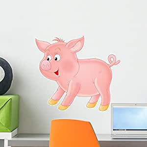 "Wallmonkeys Wall Decals FOT-1886286-18 ""WM289467 Kids Decals - Suckling-pig Peel and Stick"" Wall Decals , 18""W x 16""H/Small"
